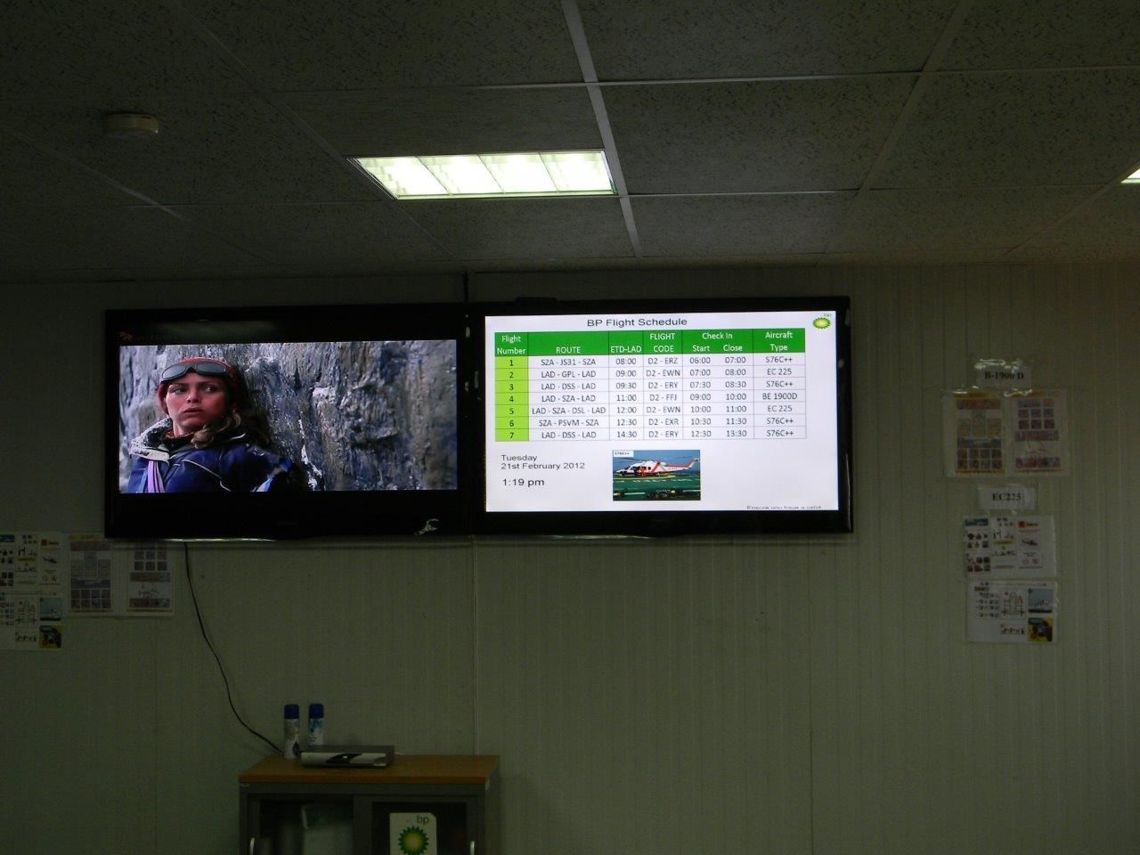This is an interesting one. Here DC Media runs the FIDS (Flight Information Display System) for the BP Private airport in Angola #digitalsignage