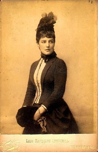 Aside from being a striking beauty, Jennie Jerome Churchill was the American born mother of British Prime Minster Winston Churchill