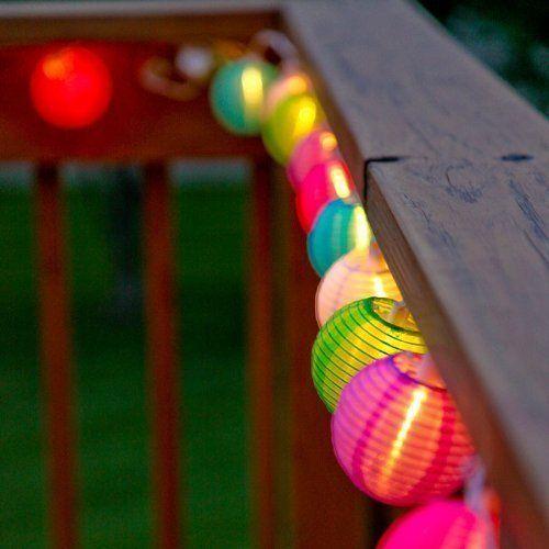 E Light 20 Lantern Ball Lights Solar Powered Christmas String Lights For  Outdoor, Patio