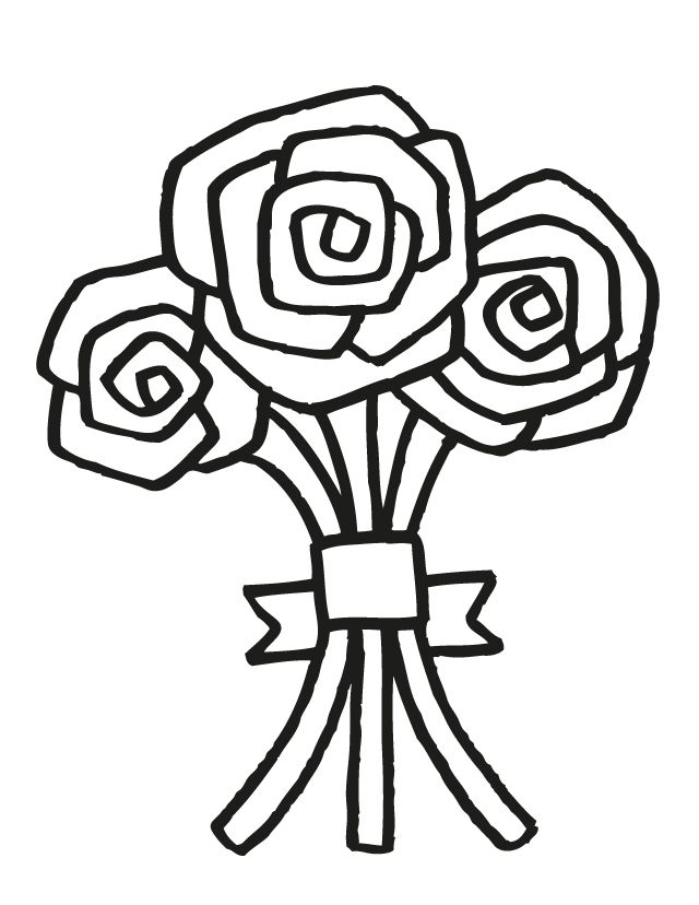 17 wedding coloring pages for kids who love to dream about their big day wedding bouquet 5