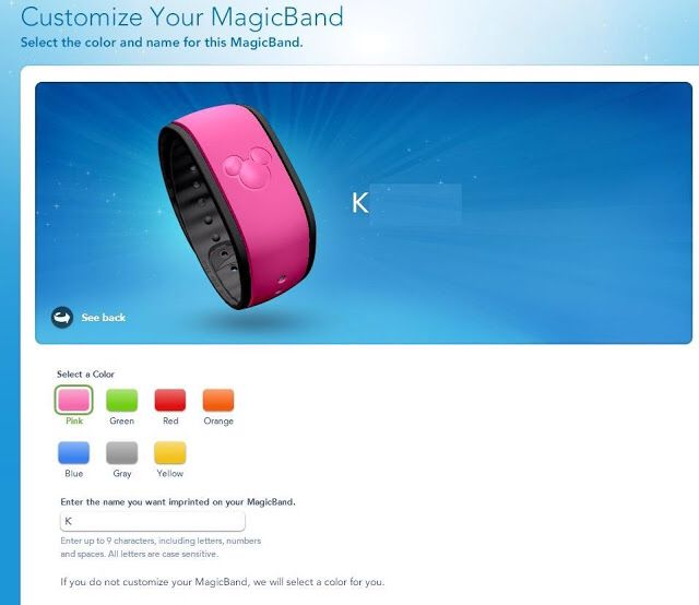 Disney Magic band colors