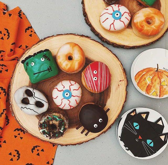 Halloween donuts taken from Zoella\u0027s instagram Yummies - halloween decorations on pinterest