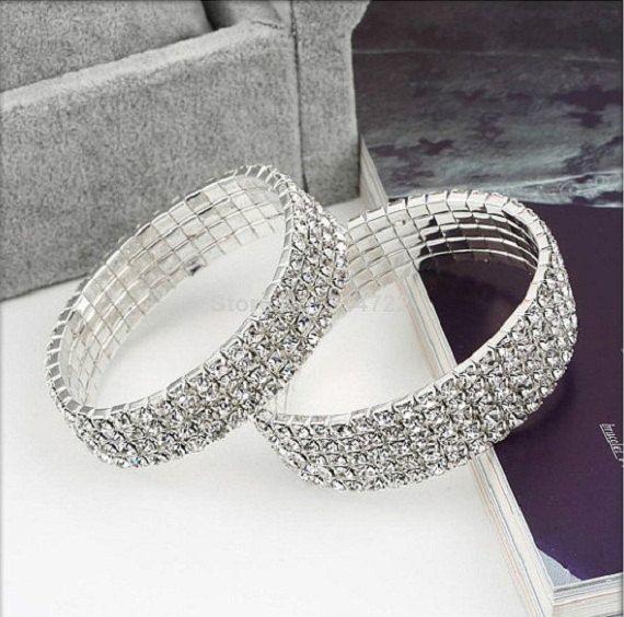 Claire strass Bracelet extensible Bridal  par MageBridalJewelry