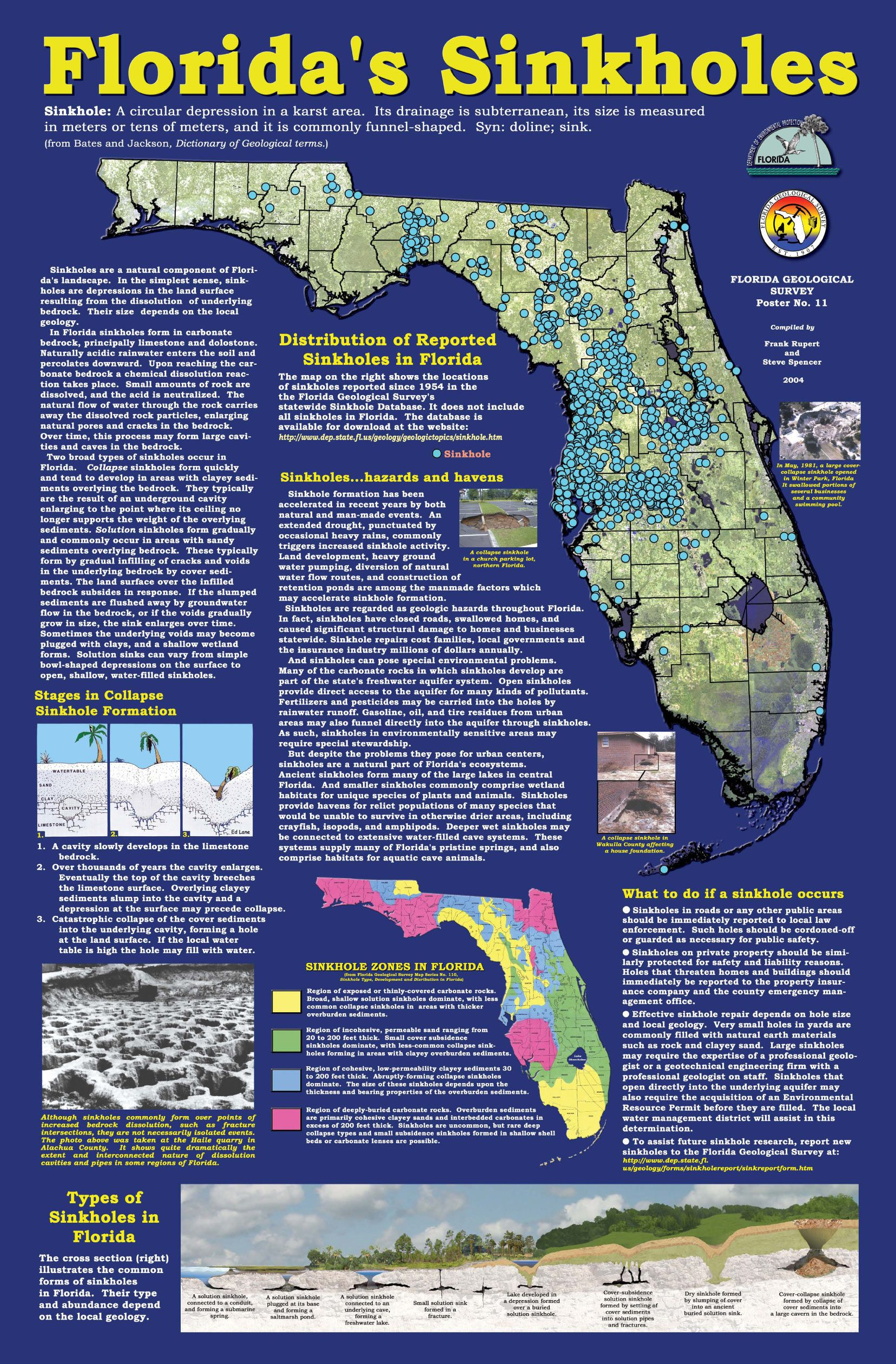 Florida Sink Hole Map.Florida Sinkhole Map Florida Sinkhole Map Florida Florida
