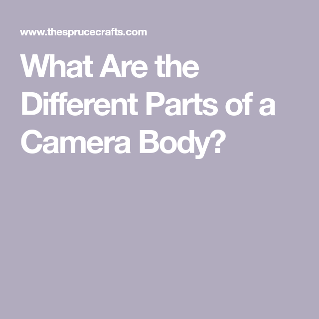 Photo of What Are the Different Parts of a Camera Body?