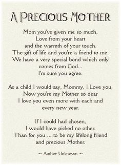 My Daughters First Mothers Day Poem Bing Images Mom Poems