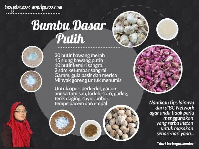 Bumbu Dasar Putih Tipsramadhan Resep Resep Makanan Asia Resep Sederhana