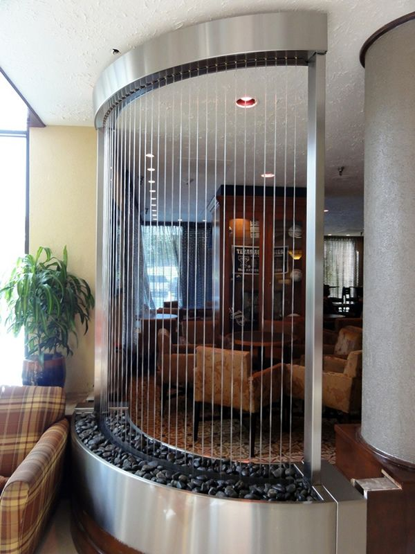 Custom Curved Rain Curtain with Stainless Steel Frame Home decor