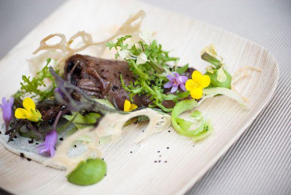 Australian Beef Short Ribs with Broccoli Puree, Toasted Nori Yogurt, Kaeshi Sauce, and Wasabi Vinaigrette by Rising Star Chef Seth Siegel-Gardner of Kata Robata