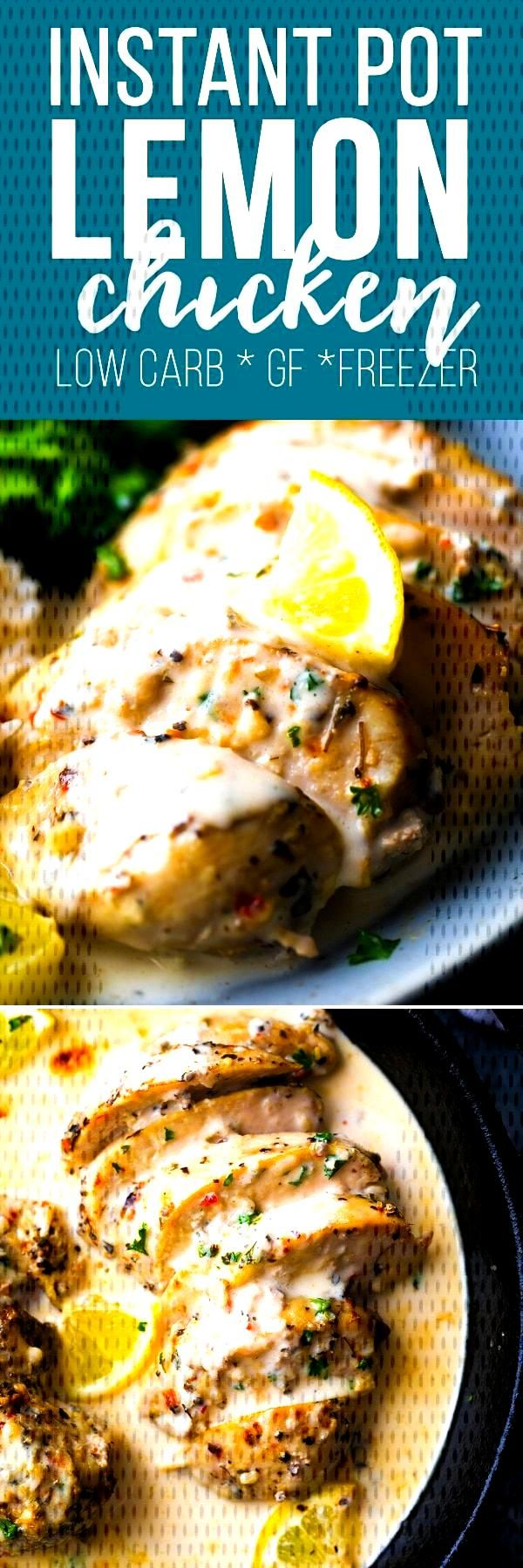 Instant Pot creamy lemon chicken breasts get dinner on the table in under 30 minutes! Juicy chicken