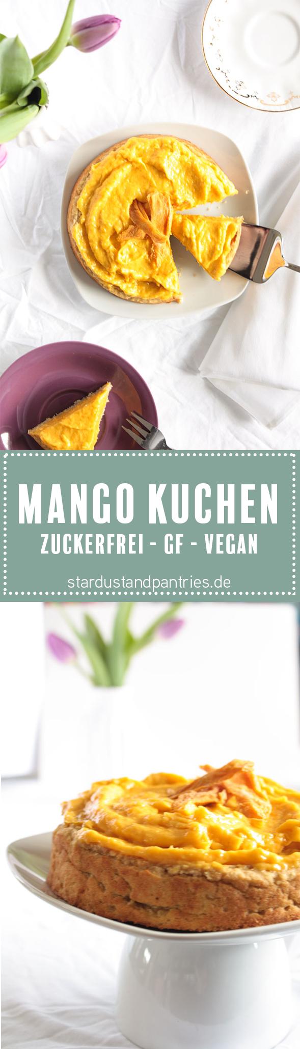 Zuckerfrei Backen: Kokos-Mango-Kuchen