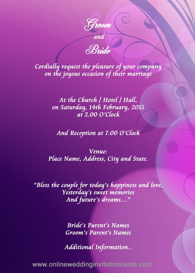 Indian Style Invitation Design Sample 8 Wedding
