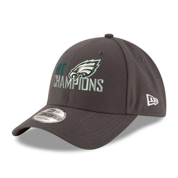 buy popular 3e094 555fa ... inexpensive mens philadelphia eagles new era graphite 2017 nfc  champions 9forty adjustable hat your price 2841b
