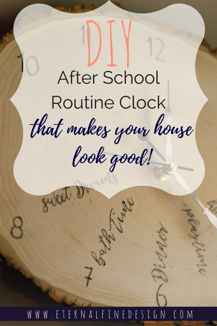 Do it yourself diy after school routine clock that wont clash with do it yourself diy after school routine clock that wont clash with your interior design check out this video not feeling crafty solutioingenieria Choice Image
