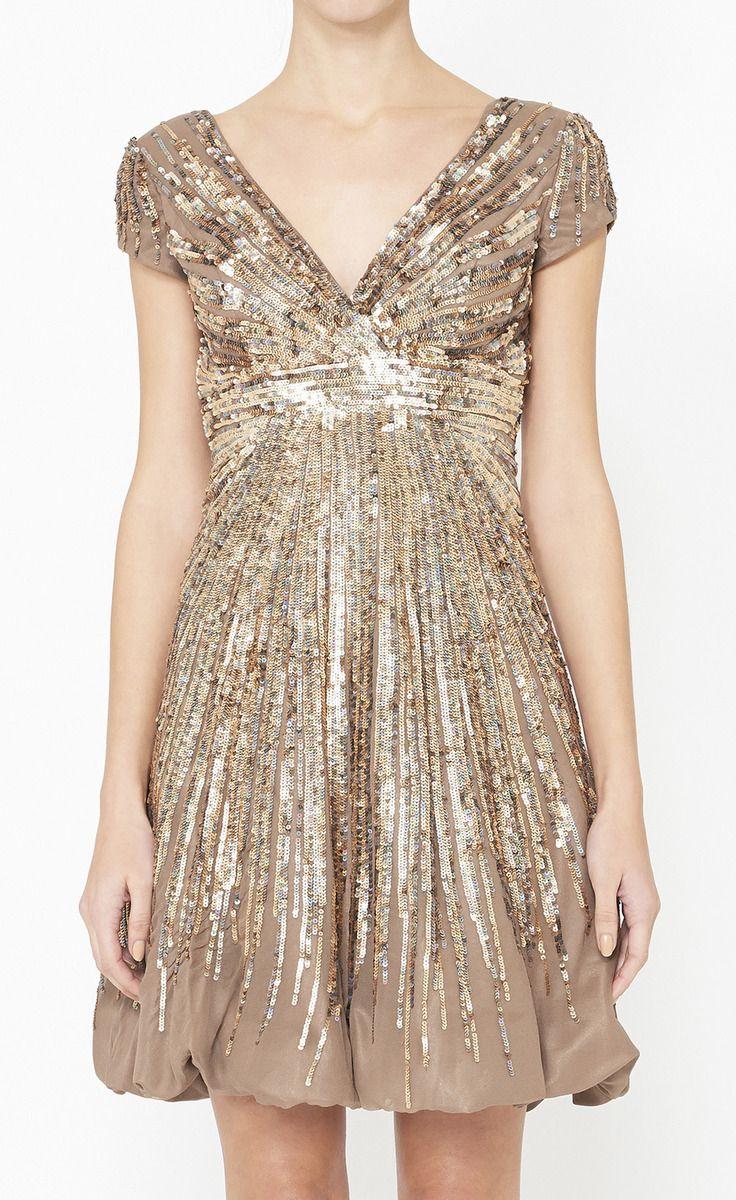 JOVANI -  Brown, Copper And Multicolor Dress