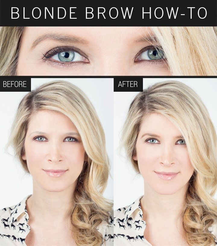 Makeup How-To: Beautiful Blonde Brows   Blonde eyebrows ...