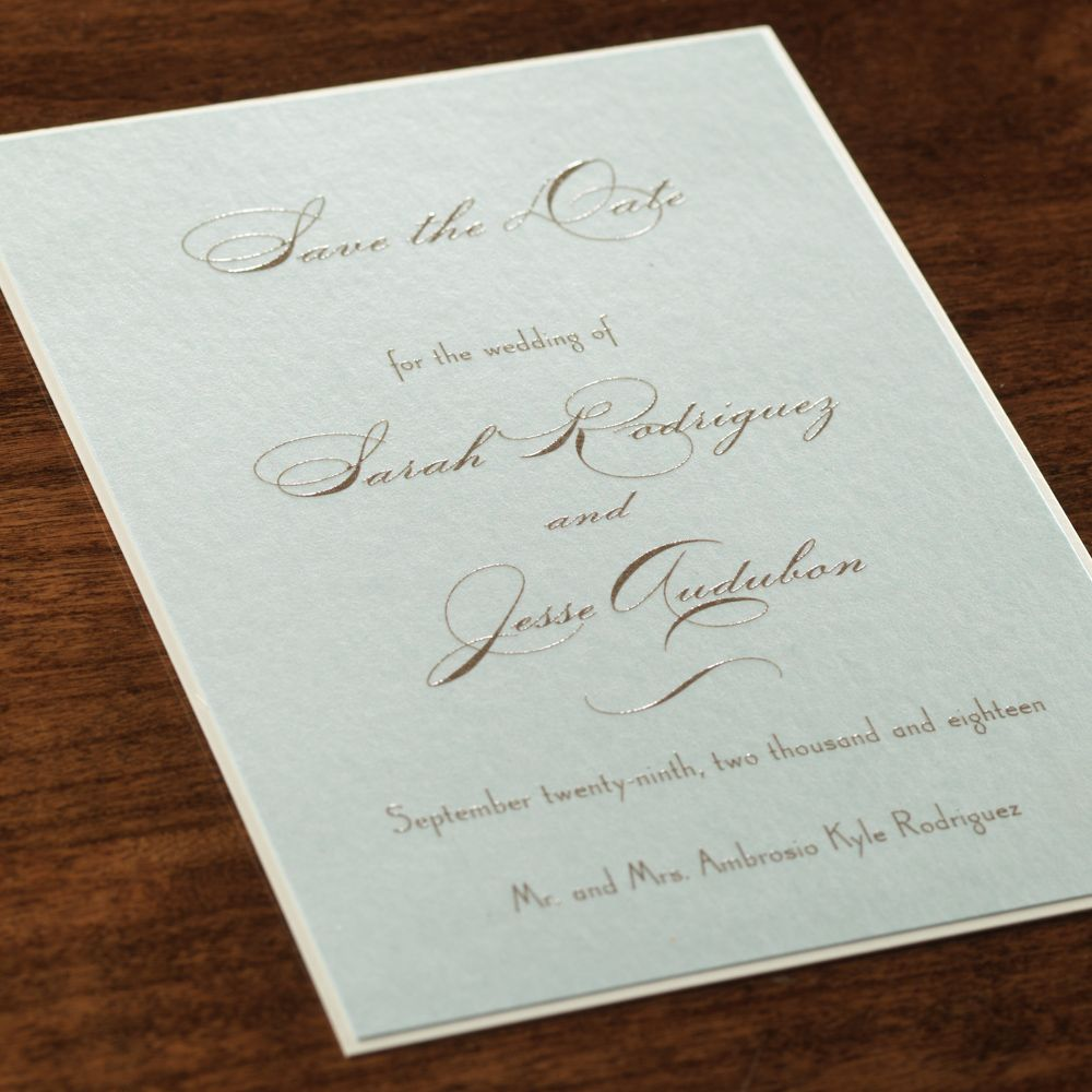 Joie De Vivre By Checkerboard Thermography Wedding Invitation In