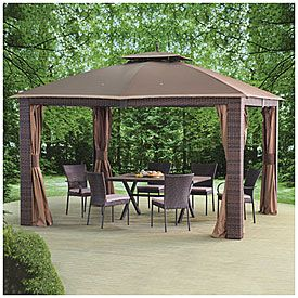 Wilson Fisher 10 X 12 Sonoma Gazebo Gazebo Gazebo Big Lots Dream Backyard