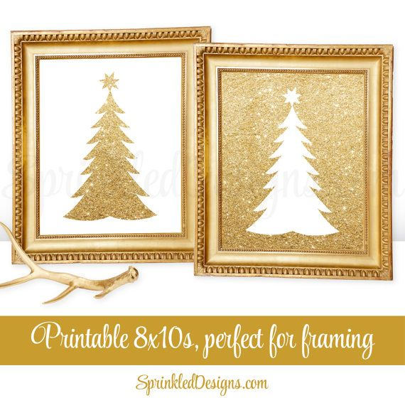 Printable Christmas Decorations - Printable Holiday Mantle Decor ...