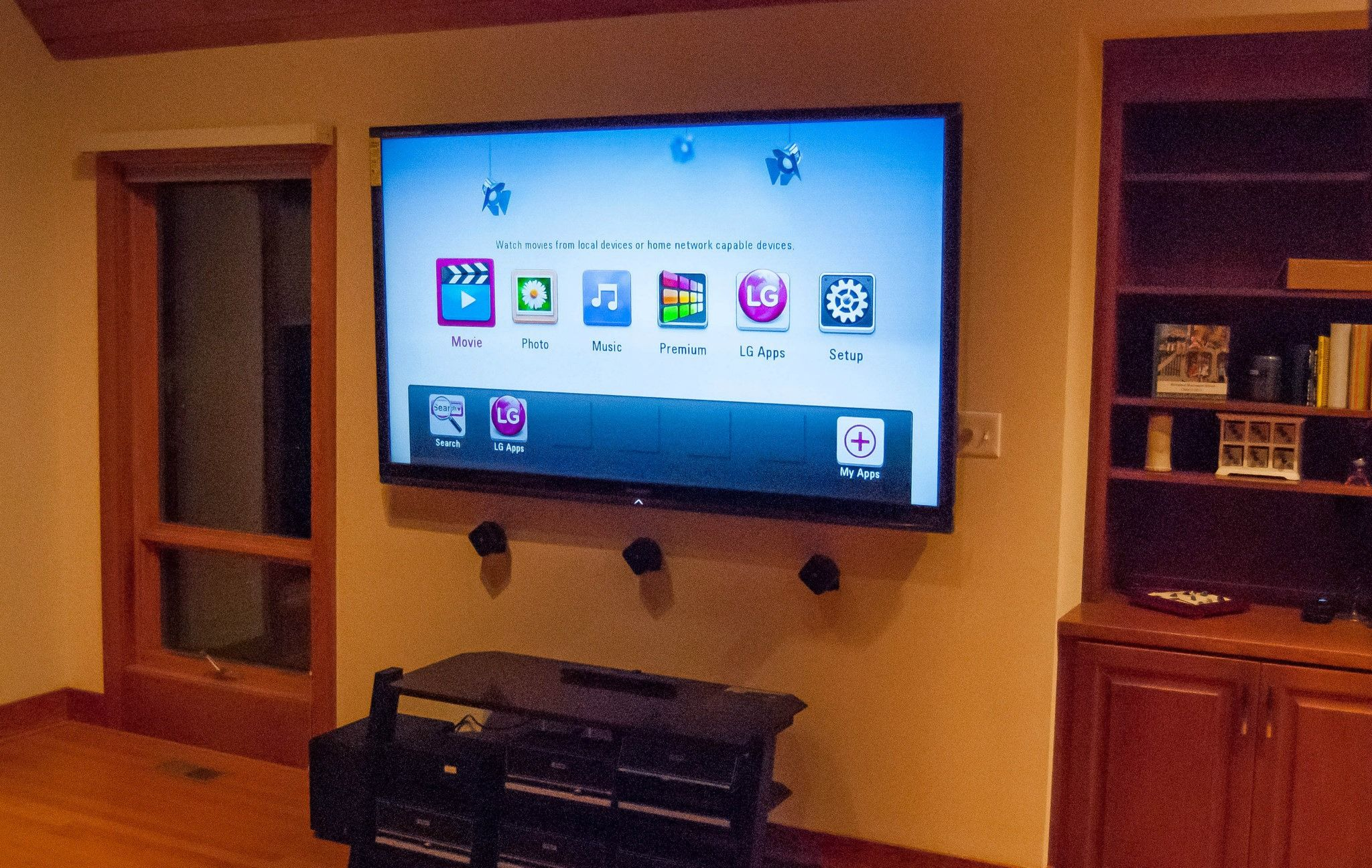 80 Quot Sharp Led Tv Wall Mounted With Boston Acoustic