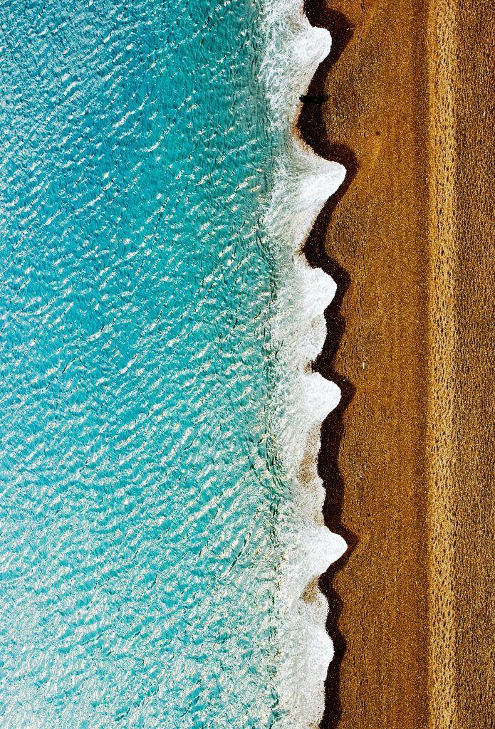Portrait Of The Wavey Edge - waves, shoreline, and beach, Dorset, England, UK
