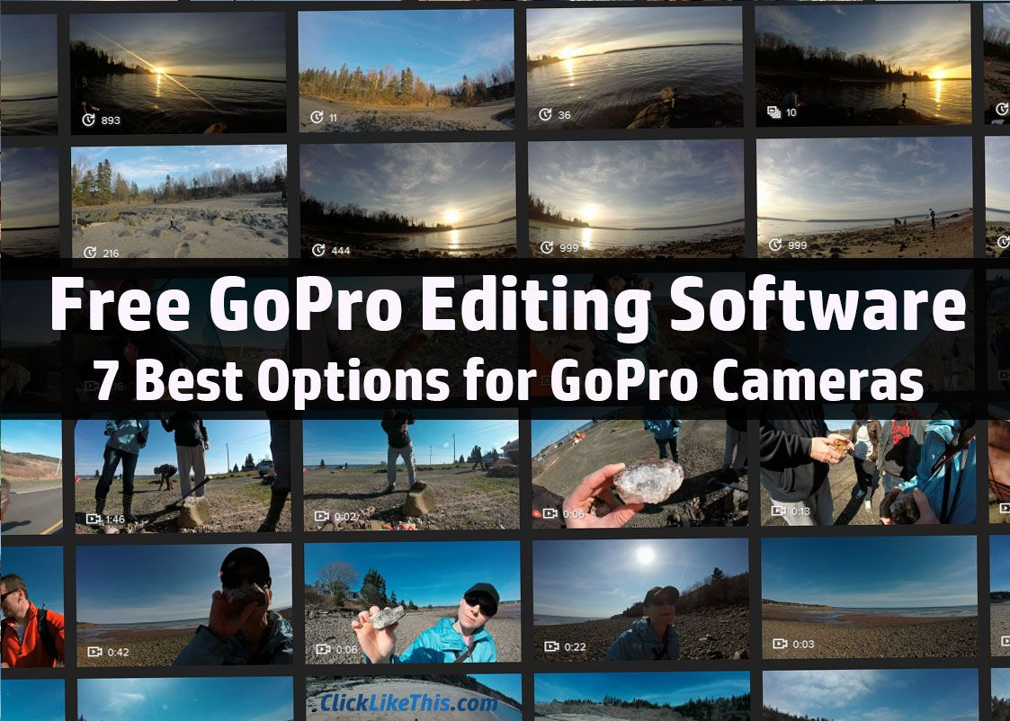 7 Best Free GoPro Editing Software Options   Gopro, Software and ...