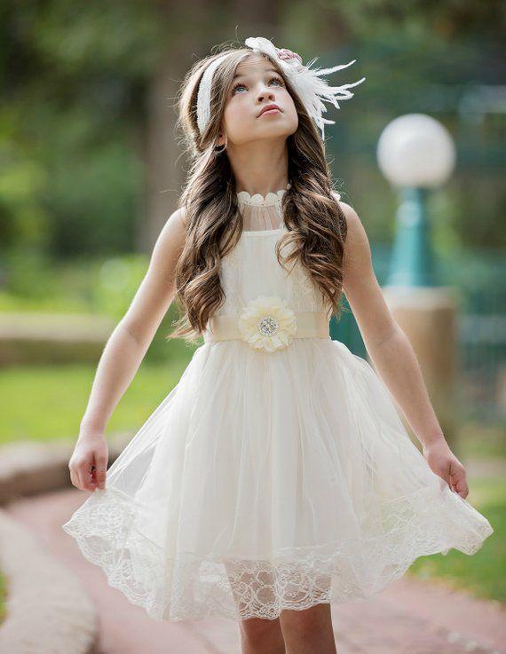 Blumenmädchen Kleid, Spitze Blumenmädchen Kleid ...