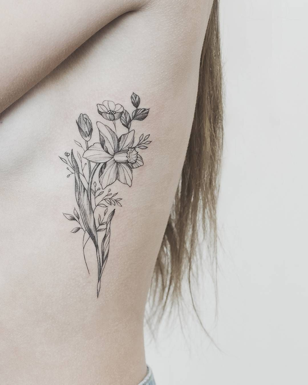 Instagram Birth Flower Tattoos Narcissus Flower Tattoos Daffodil Tattoo