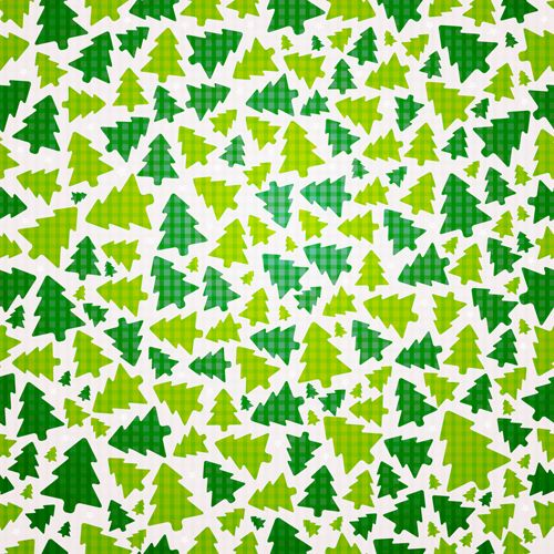 This free seamless Christmas vector pattern has Christmas trees in ...