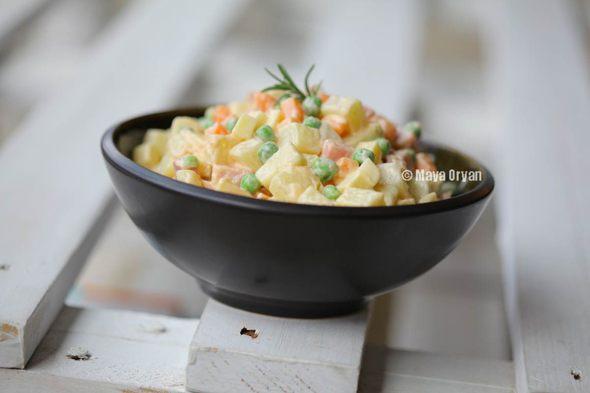 Oh, love, salads, and all that jazz! Polish Vegetable Salad by Maya Oryan