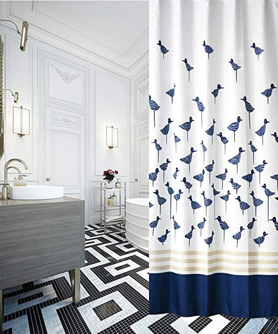 S-ZONE Printed Lucky Birds Mildew Proof Polyester Fabric ...