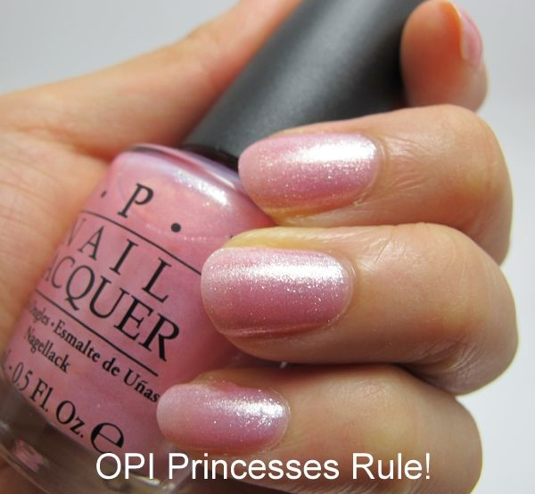 Nail Swatches Of Opi Princesses Rule Bubble Bath And Which Shade Would Kate Middleton Wear
