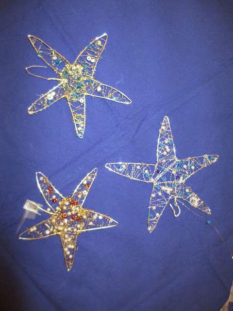 Sterne aus Draht mit Kindern basteln
