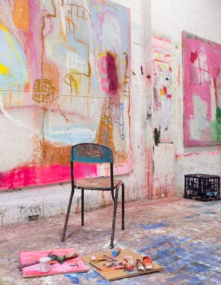 Olivier Rasir's 'Wild Man Dreaming' - photo, Jacqui Turk. #abstractart #studio #paint #painter