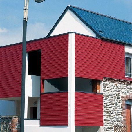 Bardage Couleur Silverwood Extra Rouge Sang de Boeuf façades