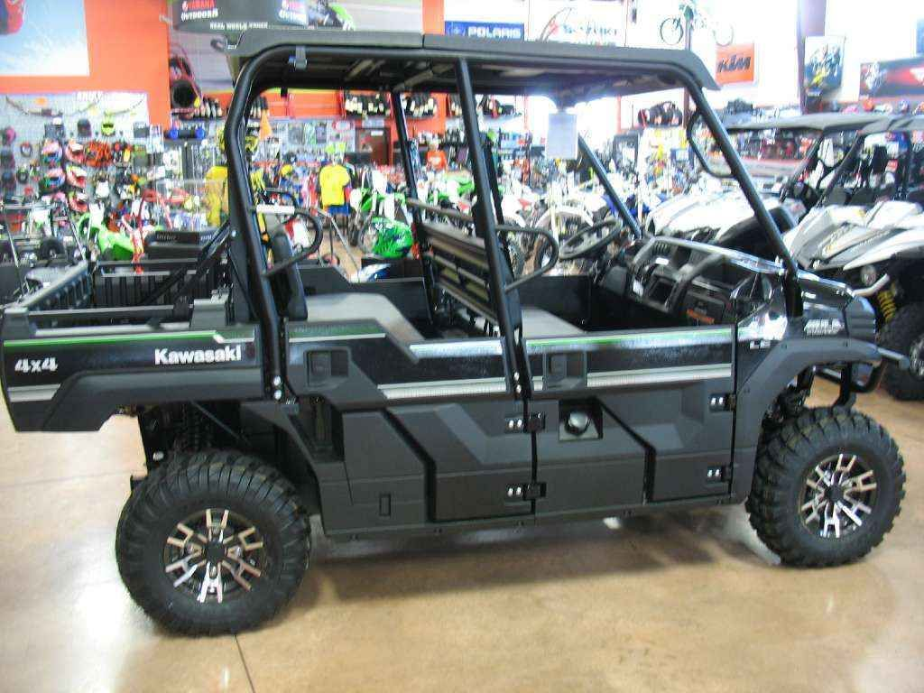 New 2017 Kawasaki Mule PRO-FXT™ EPS LE ATVs For Sale in Indiana. The Kawasaki Difference: Kawasaki Strong - Our Fastest, Most Powerful Six-Passenger Mule™ Ever The 2017 Mule PRO-FXT™ Side x Side has incomparable strength and endless durability backed by over a century of Kawasaki Heavy Industries, Ltd. engineering knowledge. Go and get the job done with the MulePRO-FXT Side x Sidethree-passenger Trans Cab™ system, or easily convert it to six-passenger mode for a revolutionary new way to…