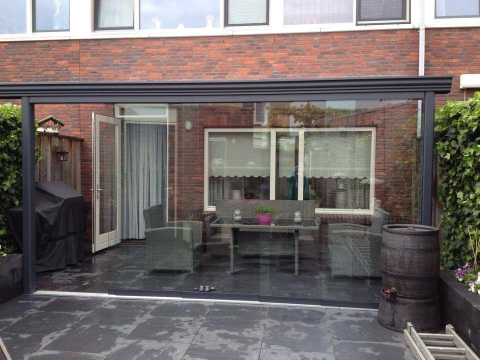 242 gumax veranda met glazen schuifwand aan de voorzijde