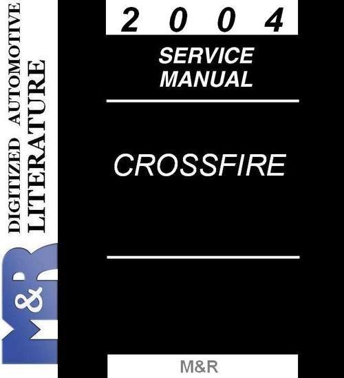 2004 Crossfire Chrysler ZH Original Service Manual LHD ...