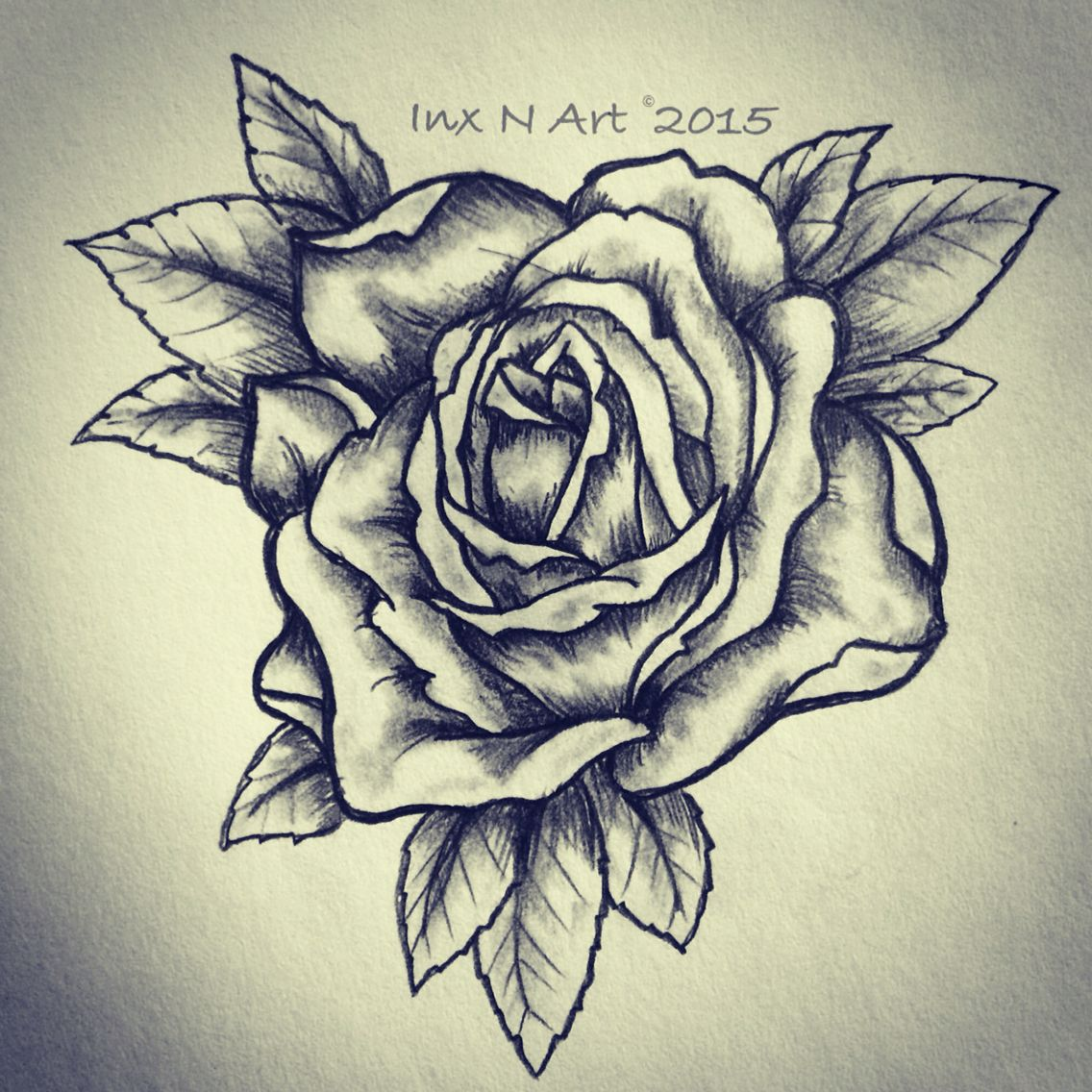 Rose tattoo sketch drawing by ranz pinterest for Drawing design ideas