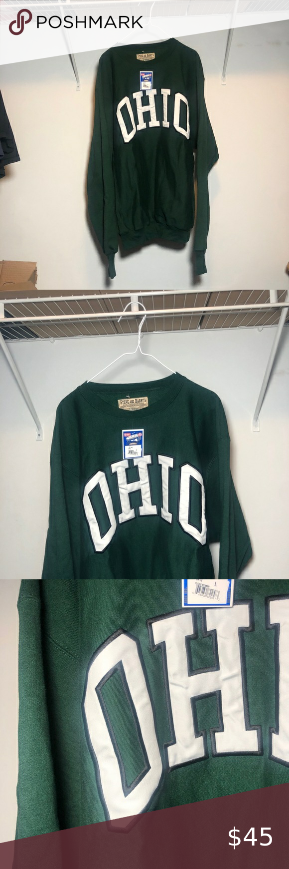 Ohio University Crewneck Sweatshirt Steve Barrys Crew Neck Sweatshirt Sweatshirts Sweatshirt Shirt [ 1740 x 580 Pixel ]
