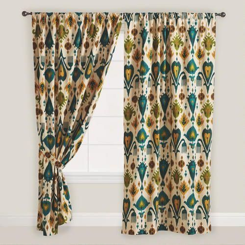 Gold and Teal Aberdeen Curtain