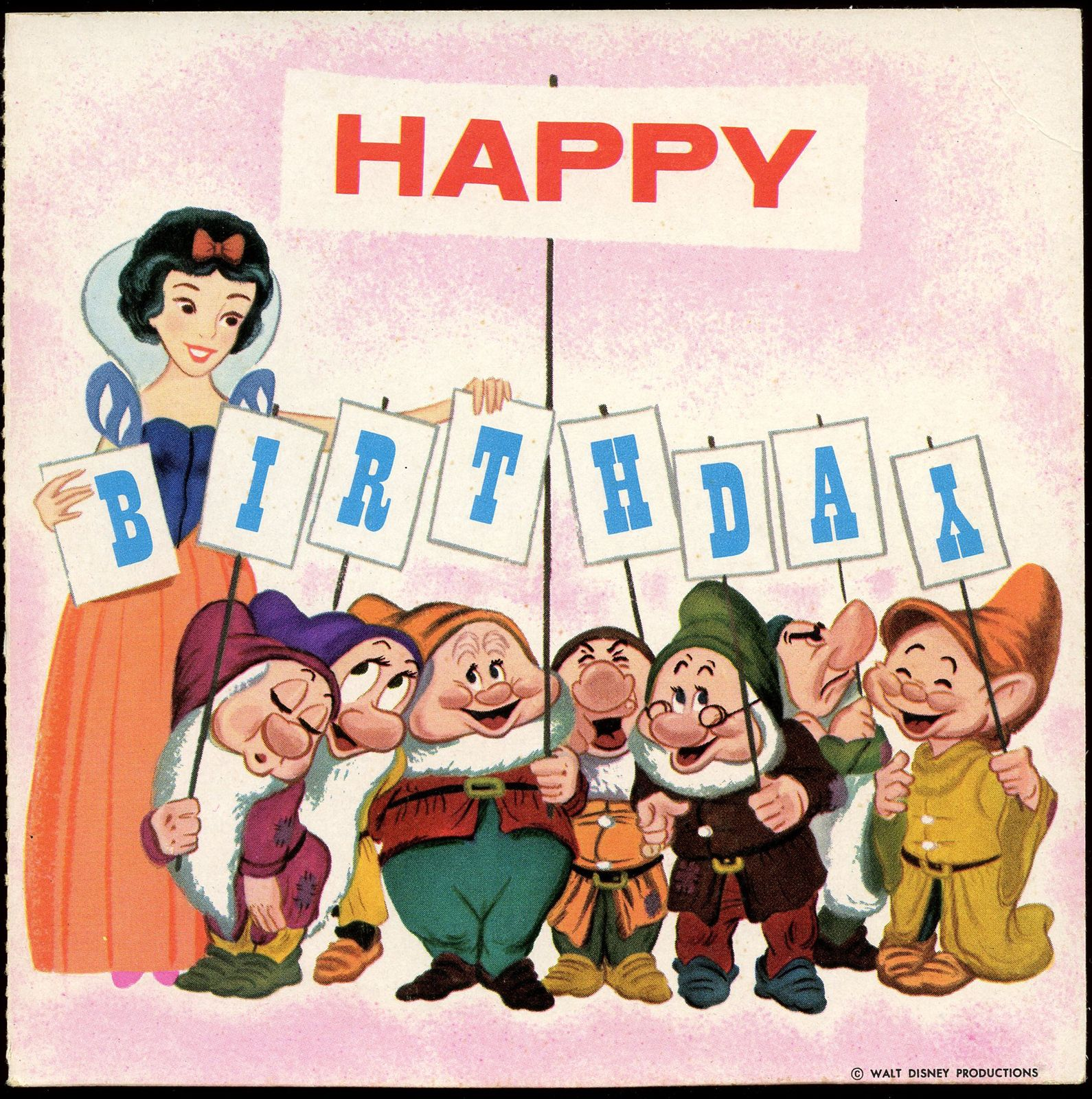 Happy birthday card 1964 disney posters and postcards pinterest happy birthday card 1964 kristyandbryce Choice Image