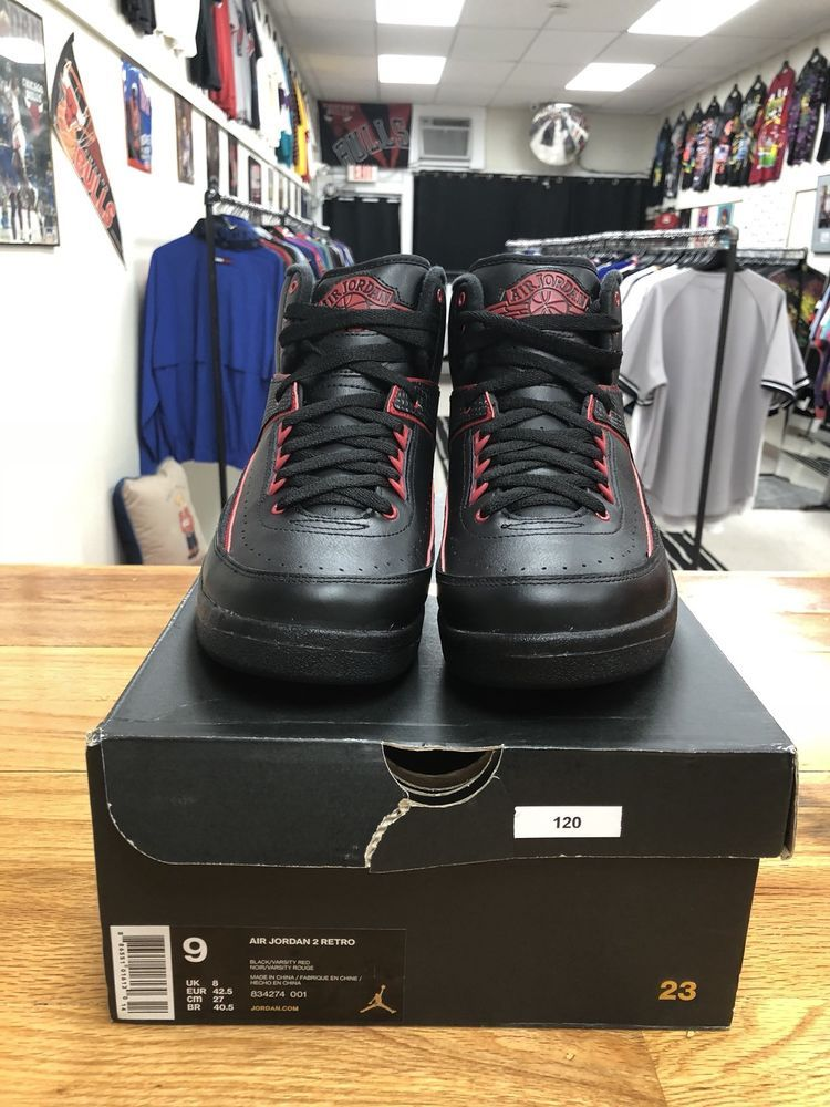 1c82e5e05dc Nike Air Jordan 2 II Retro Alternate 87 Black Varsity Red SZ 9 ( 834274-001  ) | eBay