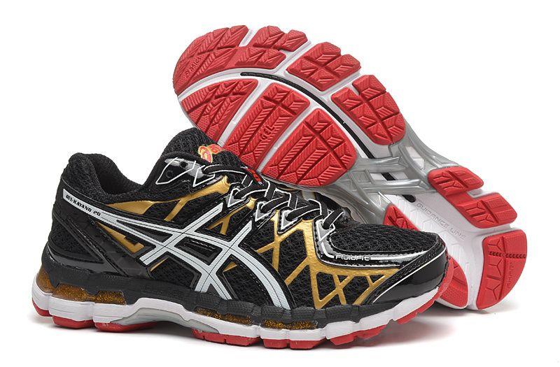 pretty nice 8b0f9 ffa14 Asics Gel Kayano 20 Mens Running Shoes Black Gold Red  onitsukatiger