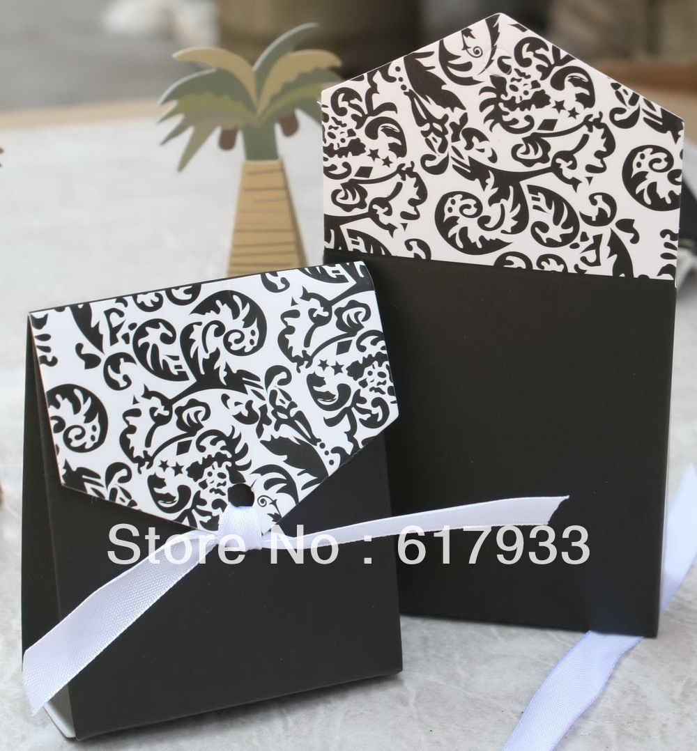 Mobile Site Hot Damask Wedding Candy Box Favor Paper Gift