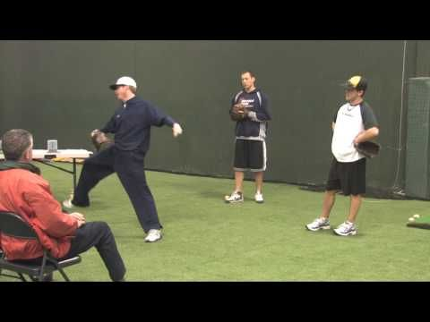 Jeff Grybish Buffalo Grove Il High School Head Coach Demonstrates Effective Pitching Drills For Training Baseball Players Baseball Workouts Pitching Drills