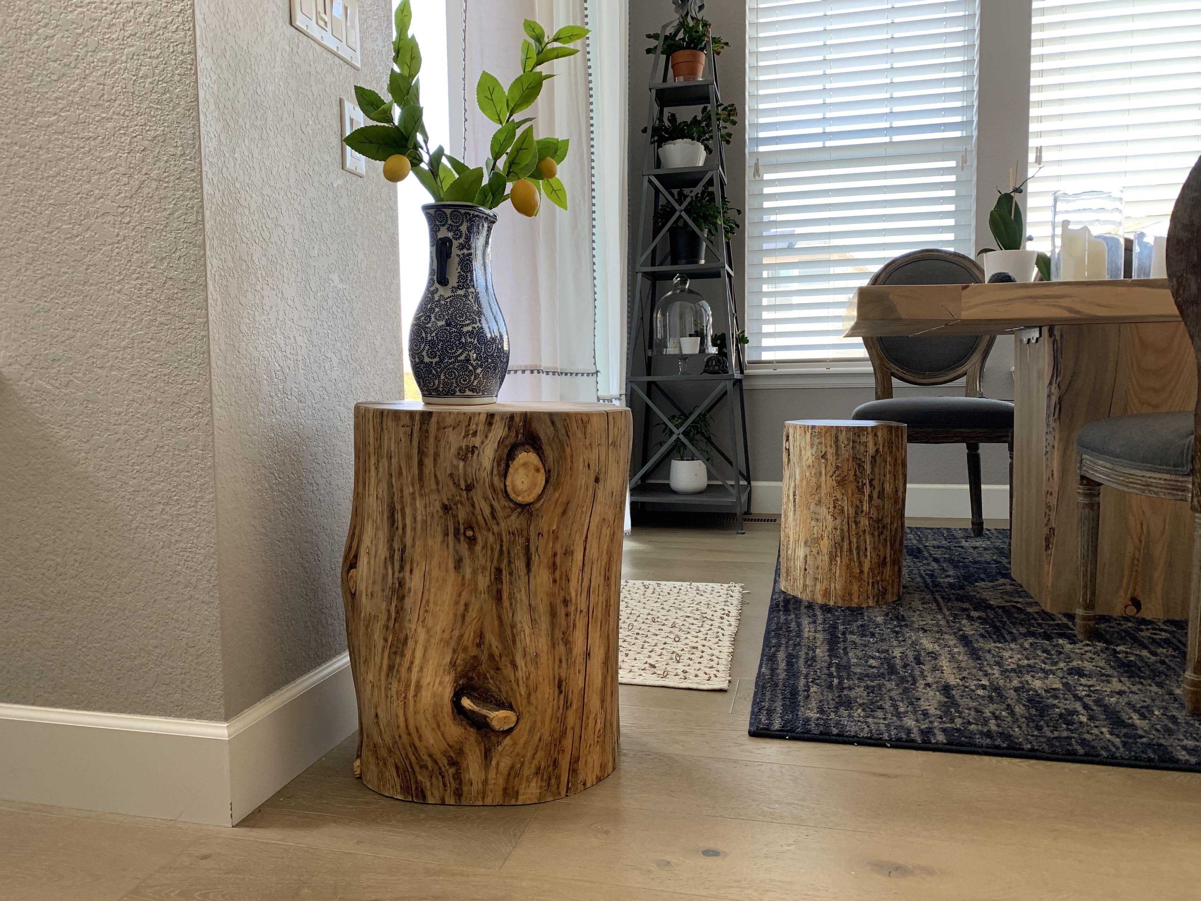 Beetle kill stump table stump table handcrafted table