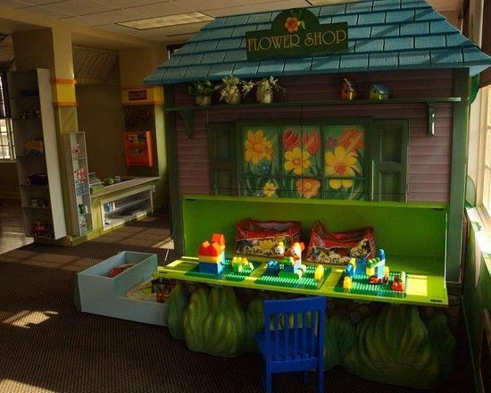 Wonderful Kids Room With Lego Storage Cube : Tropical Kids Green ...