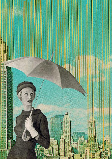 NYC Rain by Sammy Slabbinck, via Flickr