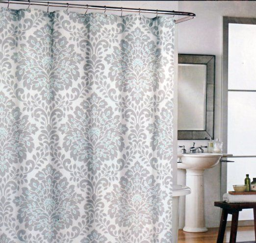 gray and teal shower curtain. Cynthia Rowley Fabric Shower Curtain Gray Medallions with Teal Highlights  Click image for more details Pin by Sharley Bonnett on BATH Pinterest highlights